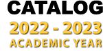Catalog 2020-2021 academic year