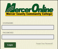 MercerOnline Orientation Log On - Black Board